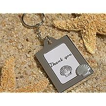120PC CC4321 Memorable Moments Seashell Keychain Photo Frame Favors Wedding Favo