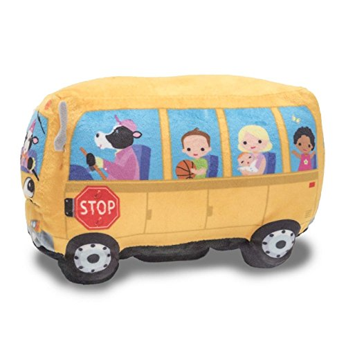 Cuddle Barn Animated Toy Wheelie School Bus Singing Wheels on the (Wheels School Bus)