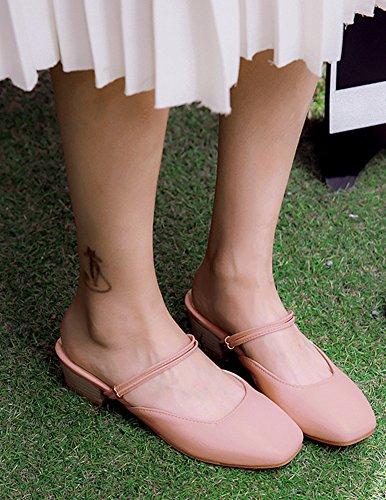 Women's Toe Rosa On Slip Sandali Aisun Square vZqS1Sw