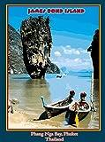 A SLICE IN TIME Phang Nga Bay James Bond Island Thailand Phuket Thai Asia Asian Vintage Travel Advertisement Art Poster