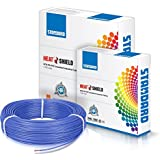 Havells Standard Single Core PVC Insulated HTR FR 90m 1 sq mm Wire (Blue)
