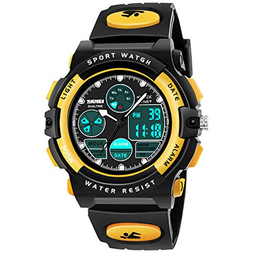 - SOKY Cool Toys for 6-15 Year Old Boys, LED 50M Waterproof Sports Digital Watches Birthday Easter Gifts for 6-15 Year Old Girls Boys Outdoor Toys for Boys Age 6-15 Yellow SKUSW3