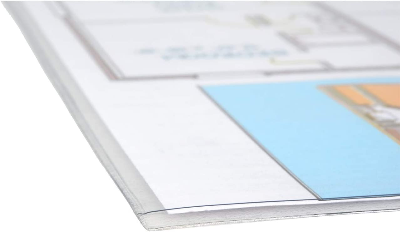 Amazon Com 11x17 Sheet Holder With Peel And Stick Adhesive Back 11x17 Inch Crystal Clear 558800 Job Ticket Holders Office Products