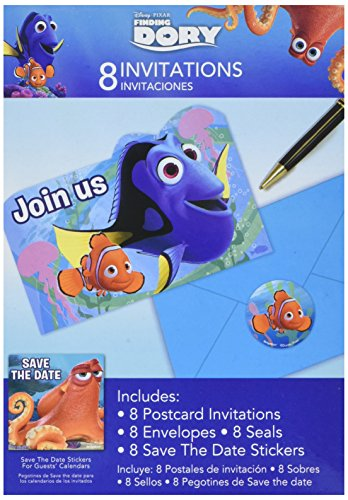 Finding Dory Party Supplies - Invitations (8)]()