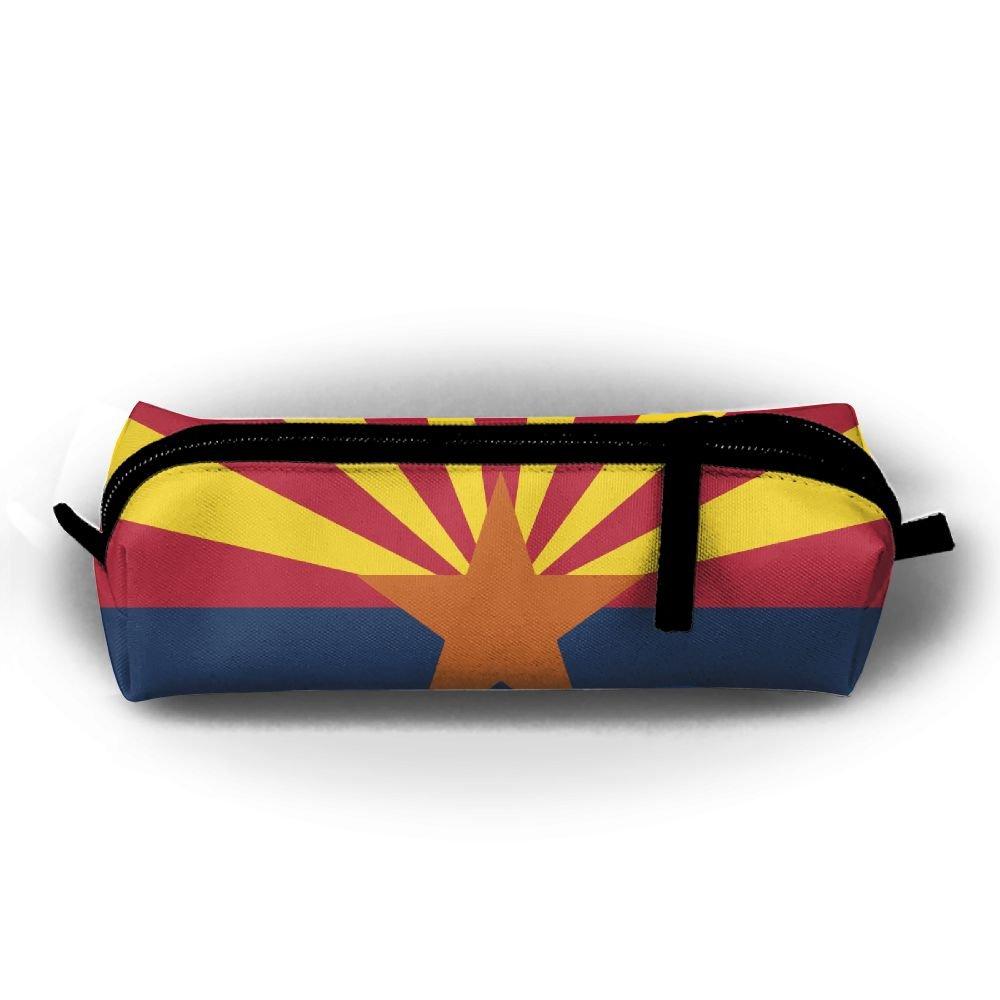 rfhbjthir Arizona State Flagユニセックスペンバッグジッパーコスメティックバッグ円柱Purse   B07D6JFBKQ