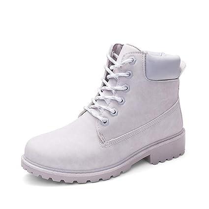 1082ba9d1bc0a Amazon.com: GOLDGOD Outdoor Hiking Boots Single Boots Female Flat ...