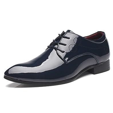 Qianliuk Formale Schuhe Männer Plus Size Lackleder