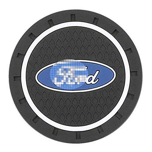 (Carhome01 Car Logo Cup Holder Coaster for Ford Accessories, 2.8 Inch Anti Slip Mat Auto Interior Decoration Pad (2PCS) ...)
