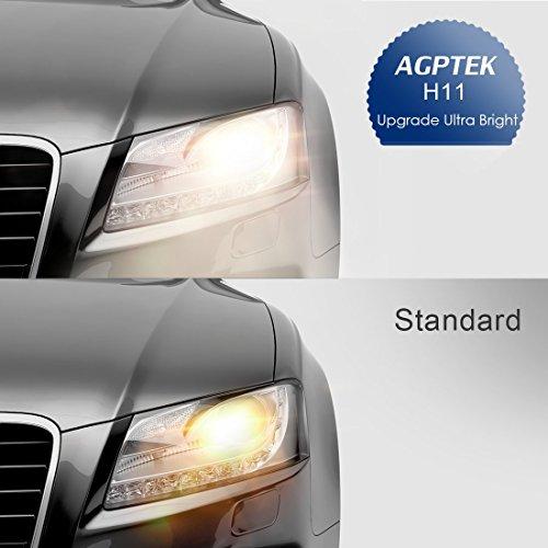 AGPTEK H11 Halogen Xenon Headlight Bulbs, 2 Pack by AGPTEK (Image #4)