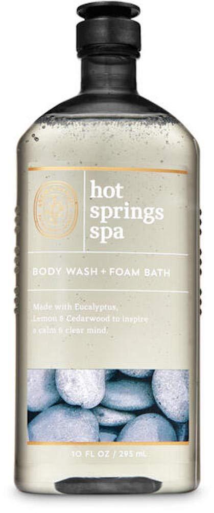 Bath and Body Works Body Care Aromatherapy - Body Wash + Foam Bath - 10 fl oz - Many Scents! (Hot Springs Spa - Eucalyptus Lemon Cedarwood)