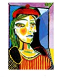 Girl with Red Beret Art Poster Print by Pablo Picasso, 11x12