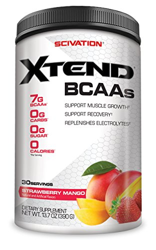 Scivation Xtend Bcaa Powder  Branched Chain Amino Acids  Bcaas  Strawberry Mango  30 Servings