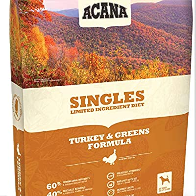 ACANA Turkey & Greens Dry Dog Food 13 Lb. Bag. with Fresh Free-Run Turkey & Kentucky Greens Grain Free Dog Food from Acana