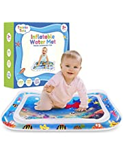 Teenie Totz Inflatable Tummy Time Water Mat - Premium Baby Water Mat for Infants Fun Play Activity Centre for Sensory Baby Development - Perfect Baby Water Play Mat for Newborns 3 Months with Fun Toys
