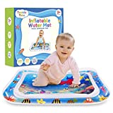 Teenie Totz Inflatable Tummy Time Water Mat - Premium Baby Water Mat for Infants Fun Play Activity Centre for Sensory Baby Development - Perfect Baby Water Play Mat for Newborns 3 Months with Fun Toys: more info