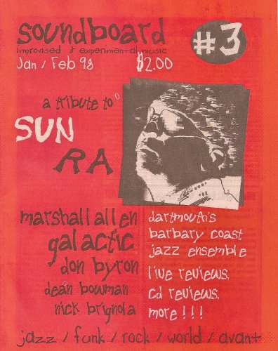 Soundboard magazine Jan/Feb 1998 Sun Ra Tribute issue