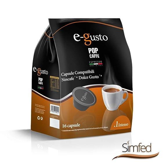 nescaf%C3%A9 dolce gusto capsule compatibili  NESCAFE DOLCE GUSTO COMPATIBILE 160 capsule POP CAFFÈ E-GUSTO M. 1 ...