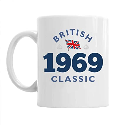 50th Birthday Gift British Classic Gifts For Men Women 1969 Coffee Mug Amazoncouk