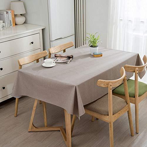 C 140240cm Nappes en PVC Couleur Unie Dessus De Table Couvercle De Table Sets De Table Prougeège-Table Linge De Table Imperméable, Anti-brûlure Et Anti-Huile,C-140  240cm