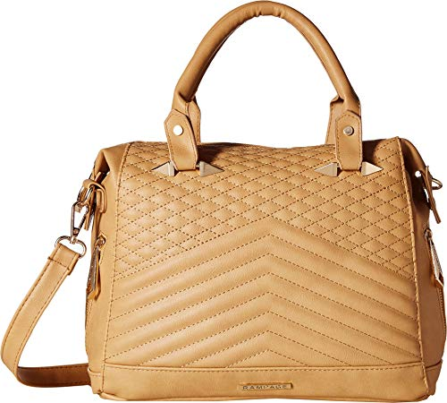 Rampage Womens Multi Quilted Satchel Almond One Size
