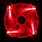 APEVIA CF20SL-URD 200mm SILENT Red LED Case Fan with 3Pin & 4Pin Connectors