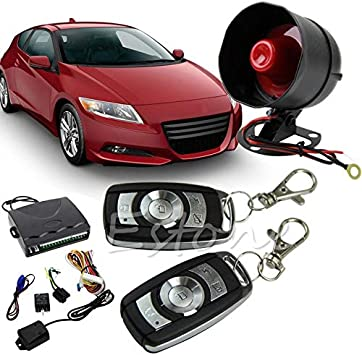 Walmeck Universal Car Vehicle Security System Burglar Alarm Protection Anti-theft System 2 Remote