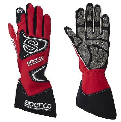 Sparco 0025608RS Tide K-9H Red Size-08 Karting Gloves (Sparco Tide Racing Gloves)