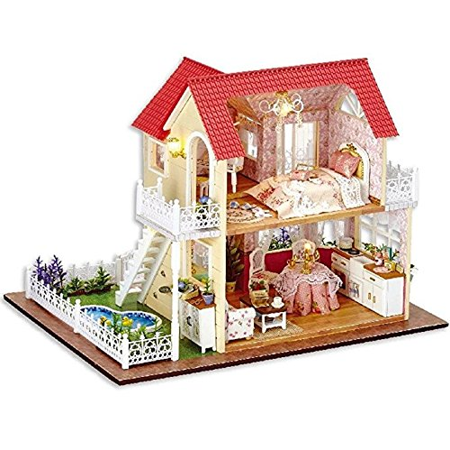 My Princess Room Lovers and Families Kisoy Romantic and Cute Dollhouse Miniature DIY House Kit Creative Room Perfect DIY Gift for Friends
