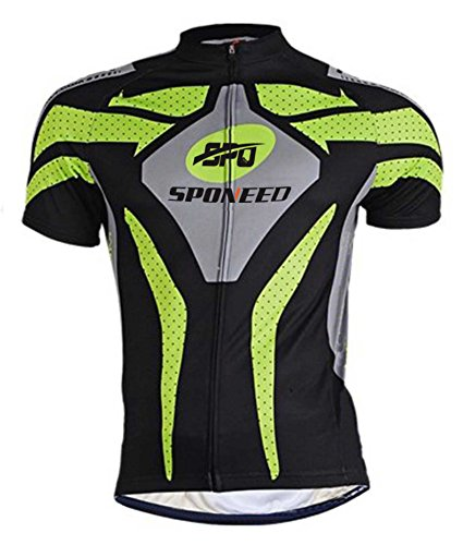 sponeed Men's Road Cycling Jersey Suits Fresh Bicycle Wear Cycle Shirt Asian 3XL/US XXL Green