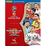 2018 Panini Adrenalyn XL FIFA World Cup Russia Collector's Album Binder with 30 Sheets that can hold over 500 Cards! PLUS HUGE 40 Page Checklist Magazine & Gameboard! Imported from Europe! WOWZZER!