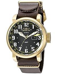 Invicta Men's 18888 Aviator Analog Display Swiss Quartz Brown Watch