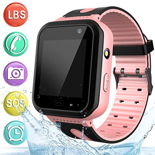 wasserdichte Uhr Telefon Kinder Smartwatch, Smart Watch für Jungen Mädchen mit LBS Tracker SOS Anruf Kamera Anti-Lost…