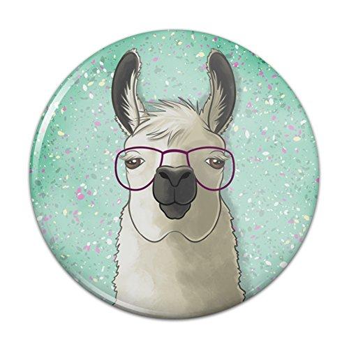 Hip Llama with Glasses Pinback Button Pin Badge - 2.25