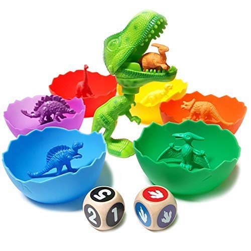 - Jumbo Sorting & Counting Dinosaurs Matching Game - Educational Dinosaur Toys for 2 3 4 5 Year Olds with 54 Math Manipulatives, Dino Grabber, Toddler Games Dice, Toy Storage & Kids Activities eBook