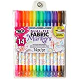 Tulip Fabric Markers: Dual Tip, Multicolor, 14 pack