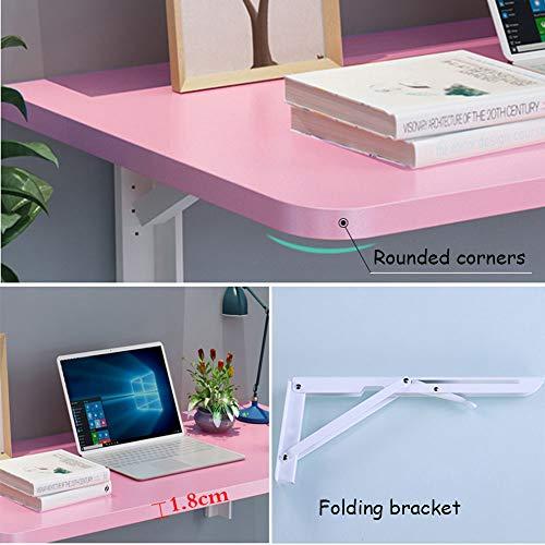 Ldfzq Väggmonterat bord viks ner, datorskrivbord, hem matbord trä barn arbetsbord, badrum kökshylla, vikbar design