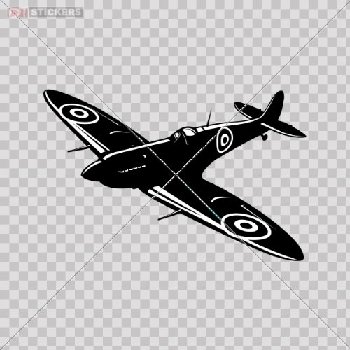 Decals Vinyl Sticker Raf Air Plane Spitfire Helmet Bike Car Window Wall Art Decor Mobile Size: 5 X 3.3 Inches Vinyl color print