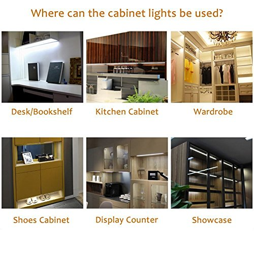 Dimmable LED Under Cabinet Puck Lights AIBOO 3 Lamps Kit with RF Remote Control for Home Kitchen Counter Lighting (Warm white 3000K) by AIBOO (Image #3)