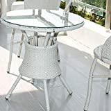 TroySys Round Glass Table Top Clear Tempered