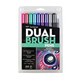 #2: Tombow Dual Brush Pen Art Markers 10-Pack, Galaxy