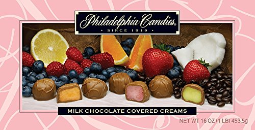 Philadelphia Candies Milk Chocolate Covered Assorted Creams (Soft Center Chocolates Candy) Gift Box, (Chocolate Covered Strawberries Gift Box)