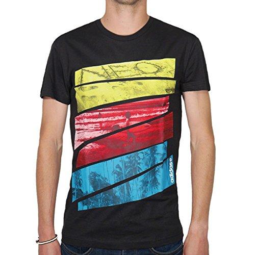 adidas GST Uomo T-Shirt, Nero, Taglia S