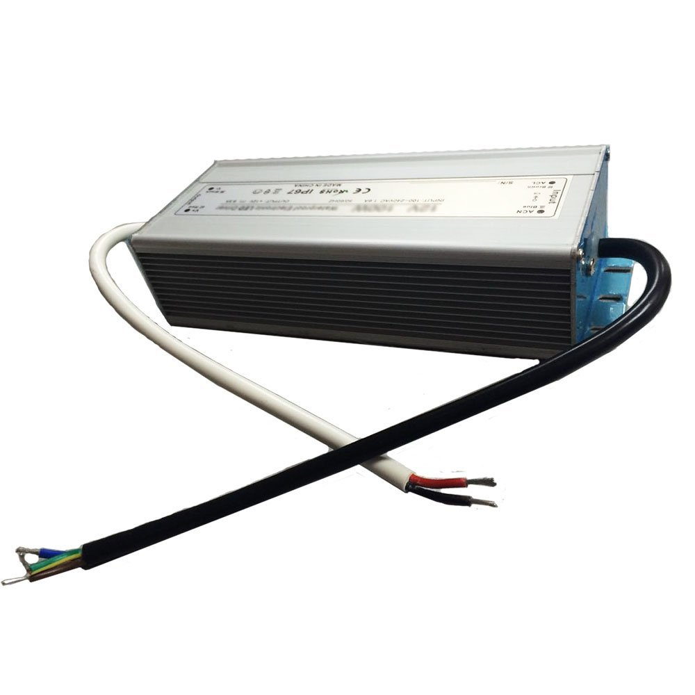 inShareplus Outdoor IP67 Waterproof 24V DC Power Supply 4.16A 100W, 100-240V AC to 24V DC Transformer for LED Strip Light