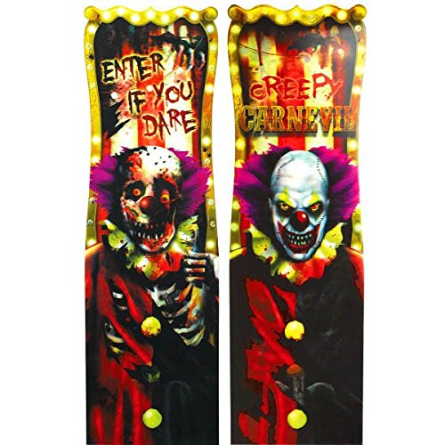 Creepy Carnival Lenticular Sign | Halloween Decor