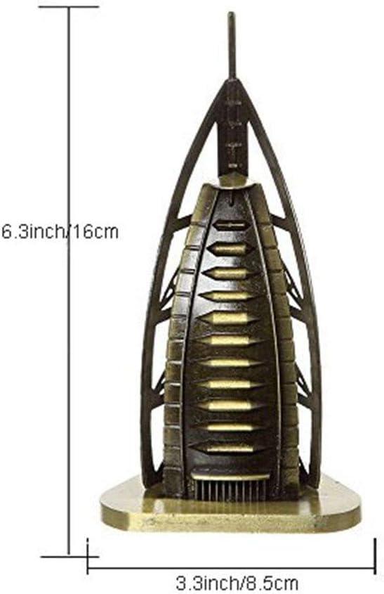SUPERPOWER/® Bronze 6,3 Pouces Mod/èle de Duba/ï Burj Al Arab Tour Sculptures en M/étal Statue C/él/èbre B/âtiment de Collection pour Cadeaux Personnalis/és Chambre de Table D/écor /à la Maison D/é