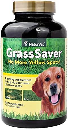NaturVet GrassSaver for Dogs, Help Prevent Lawn Spots from Dog Urine, Soft Chews, Made in The USA, 500 Count