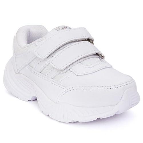 6f47ce082b6 Campus Action Unisex White School Shoes