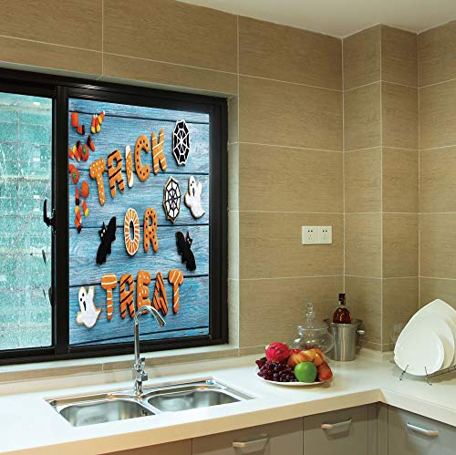 YOLIYANA Frosted Window Film,Vintage Halloween,for Shop Restaurant Home,Trick