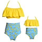 Mommy and Me Swimsuits High Waisted Family Matching