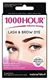 1000 Hour Eyelash & Brow Dye / Tint Kit Permanent MascaraNatural Gentle Plant Extract (Natural Black)
